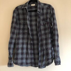 Red, Grey, and Navy Sonoma Flannel Size Large